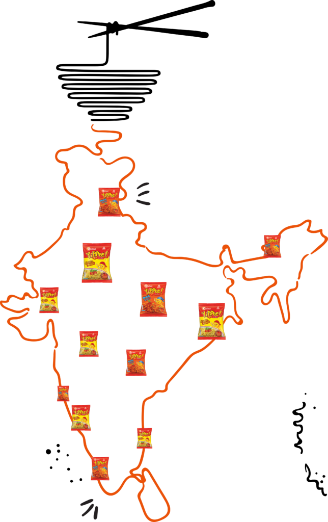 yippee noodles all over India