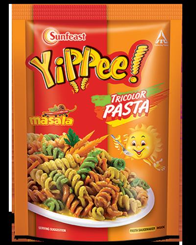 sunfeast yippee! tricolor pasta masala