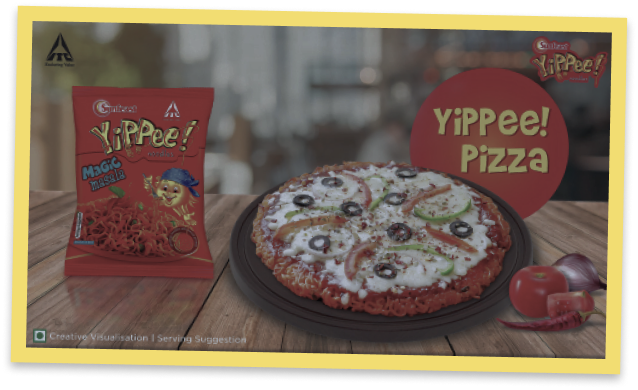 recipe of pizza with yippee noodles