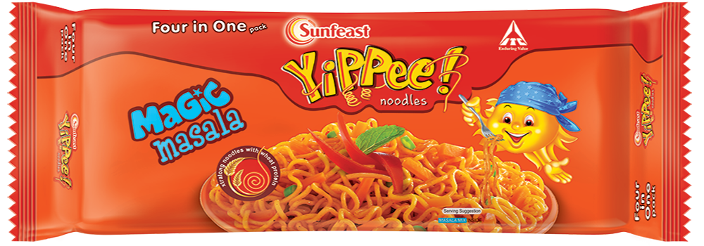 sunfeast yippee! instant noodles magic masala 4in 1