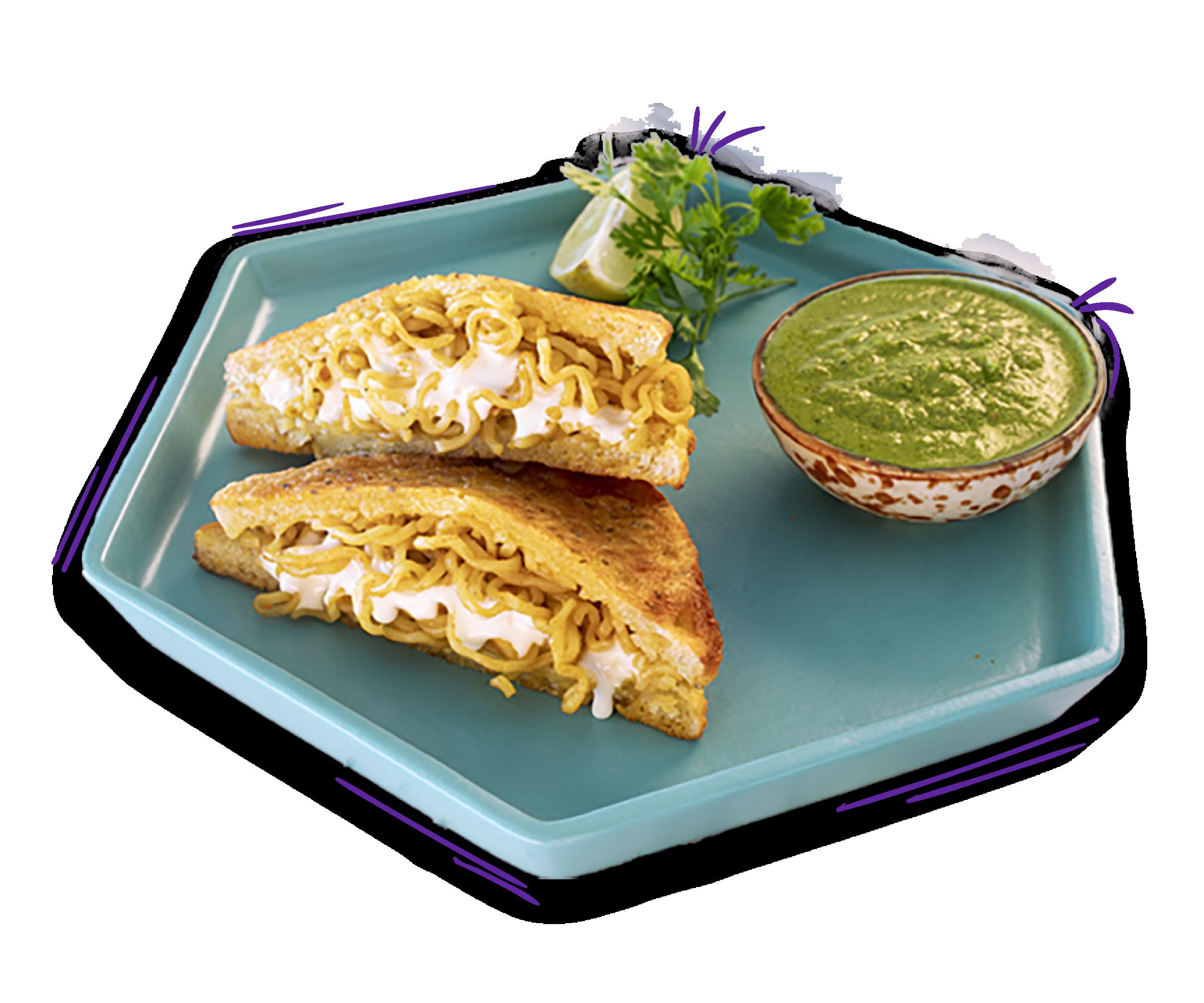 YiPPee! MOOD MASALA – Noodle Cheese Bread Pakora Recipe